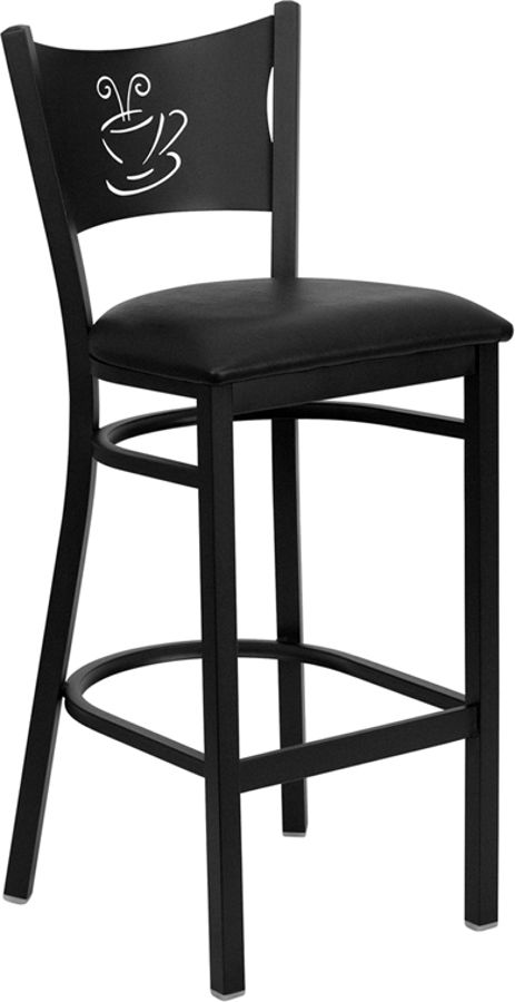 Flash Furniture Hercules Black Coffee Back Restaurant Bar