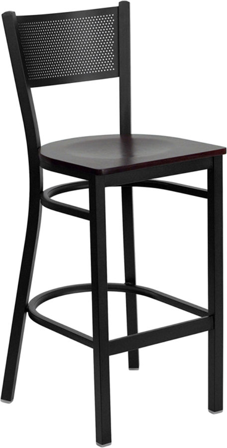 Awesome Flash Furniture Hercules Mahogany Grid Back Restaurant Barstool Alphanode Cool Chair Designs And Ideas Alphanodeonline