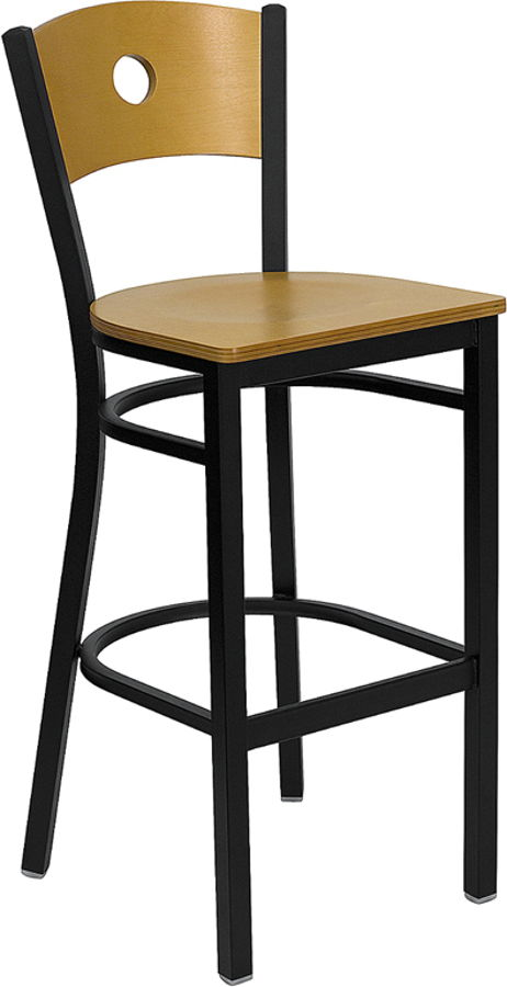 Flash Furniture Hercules Black Circle Back Restaurant Bar