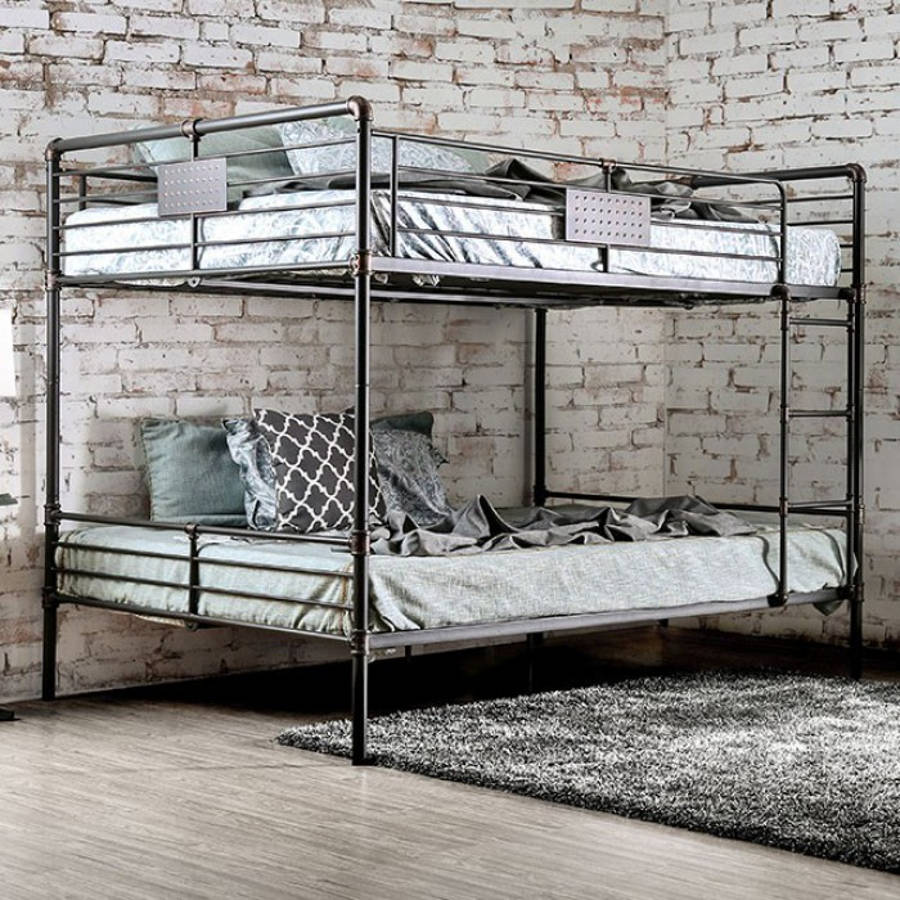 Furniture Of America Olga I Queen Over Queen Bunk Bed The Classy Home
