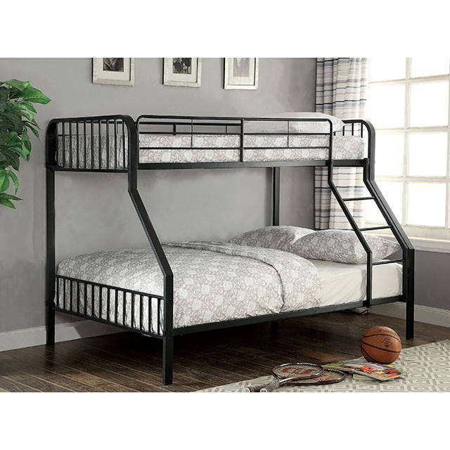 Furniture Of America Clement Metal Twin Over Full Bunk Bed The