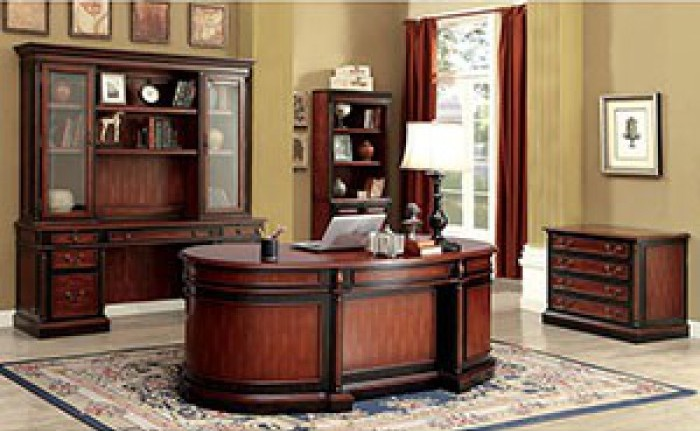 Furniture Of America Strandburg Oval Office Desk The