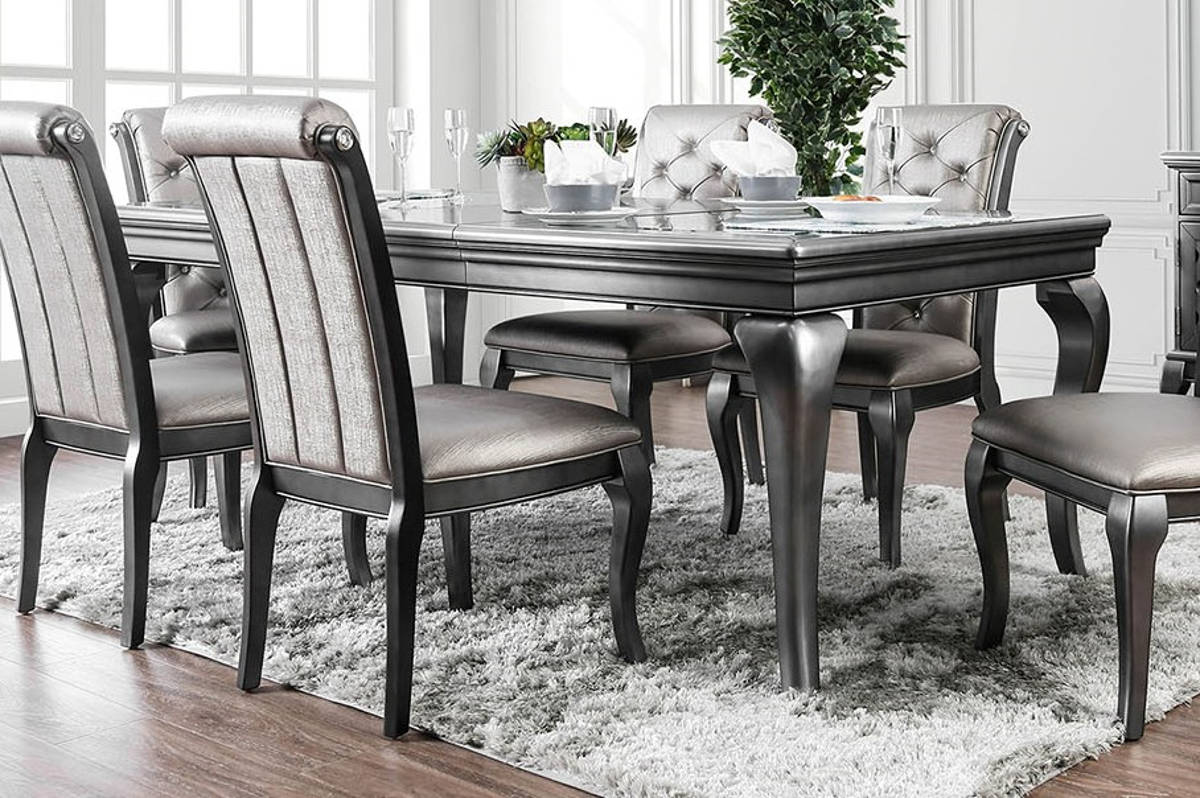 Furniture Of America Amine Gray 84 Inch Dining Table