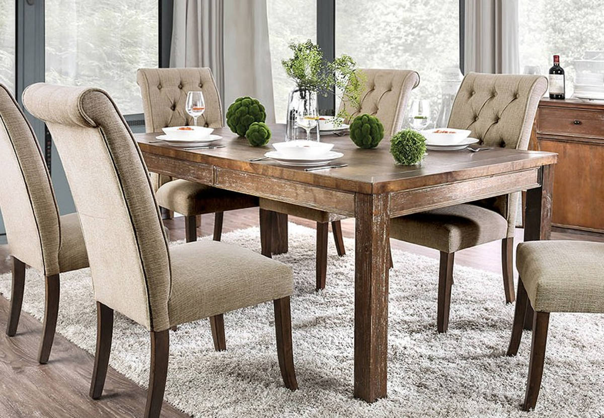 Furniture Of America Sania I Rustic Oak 72 Inch Dining Table