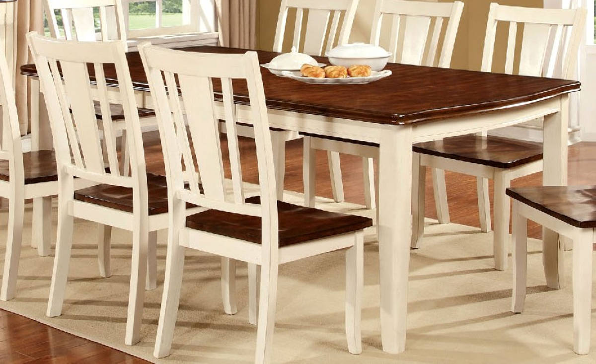 Furniture of America Dover White Cherry Dining Table