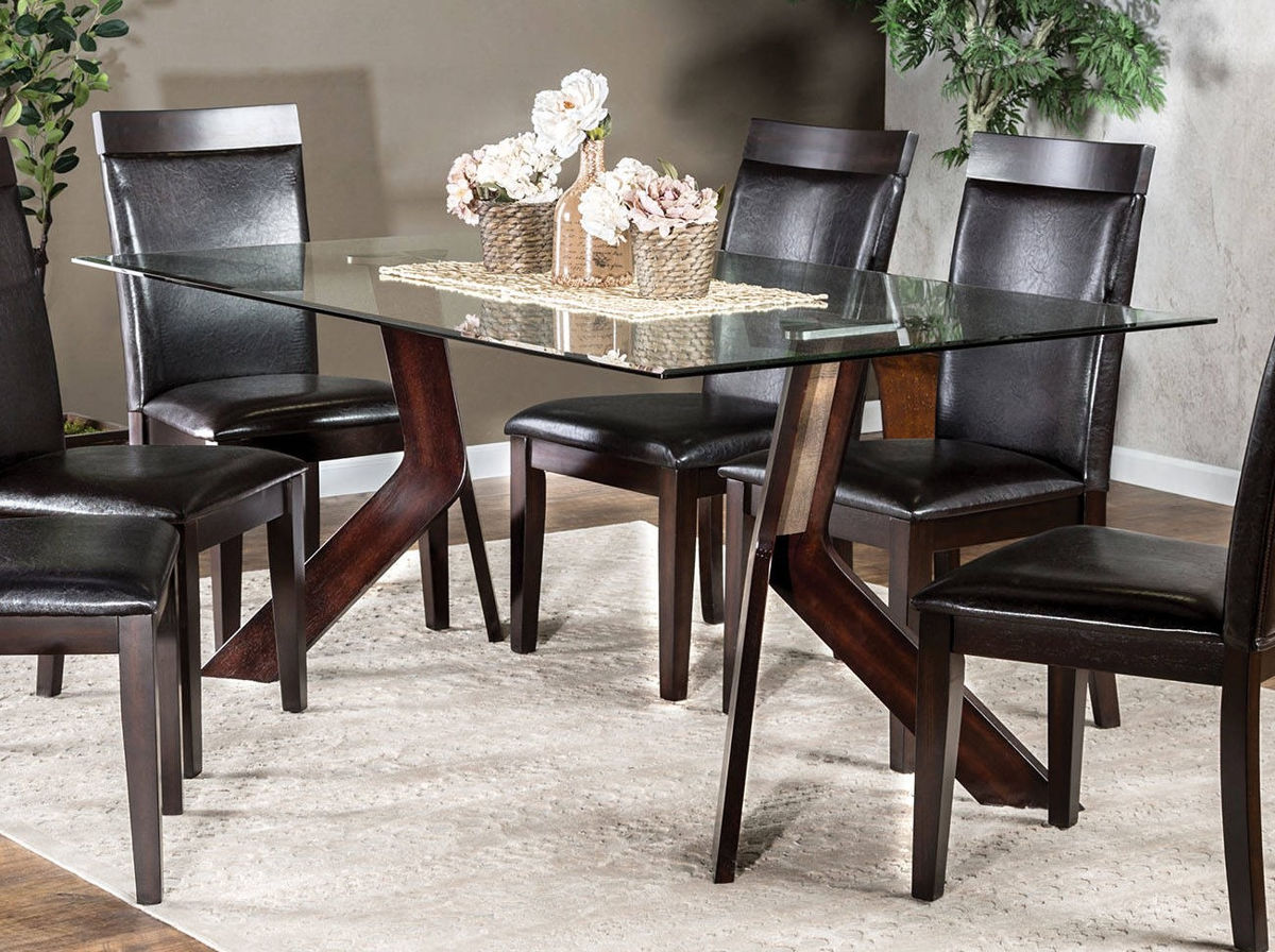 Furniture Of America Grand View I Gl Top Dining Table