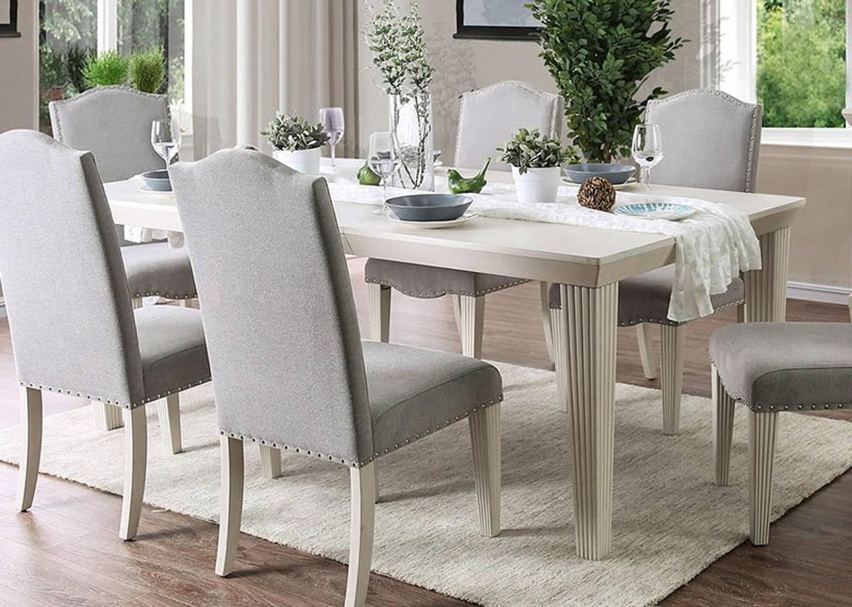 Furniture of America Daniella Antique White Dining Table