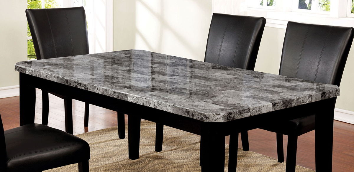 America Philon Gray Black Dining Table