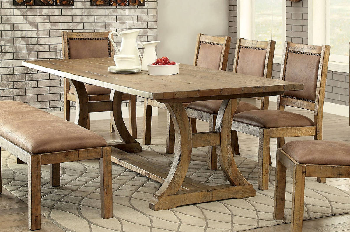 32c16d8d0fe2 Furniture of America Gianna 96 Inch Dining Table | The Classy Home