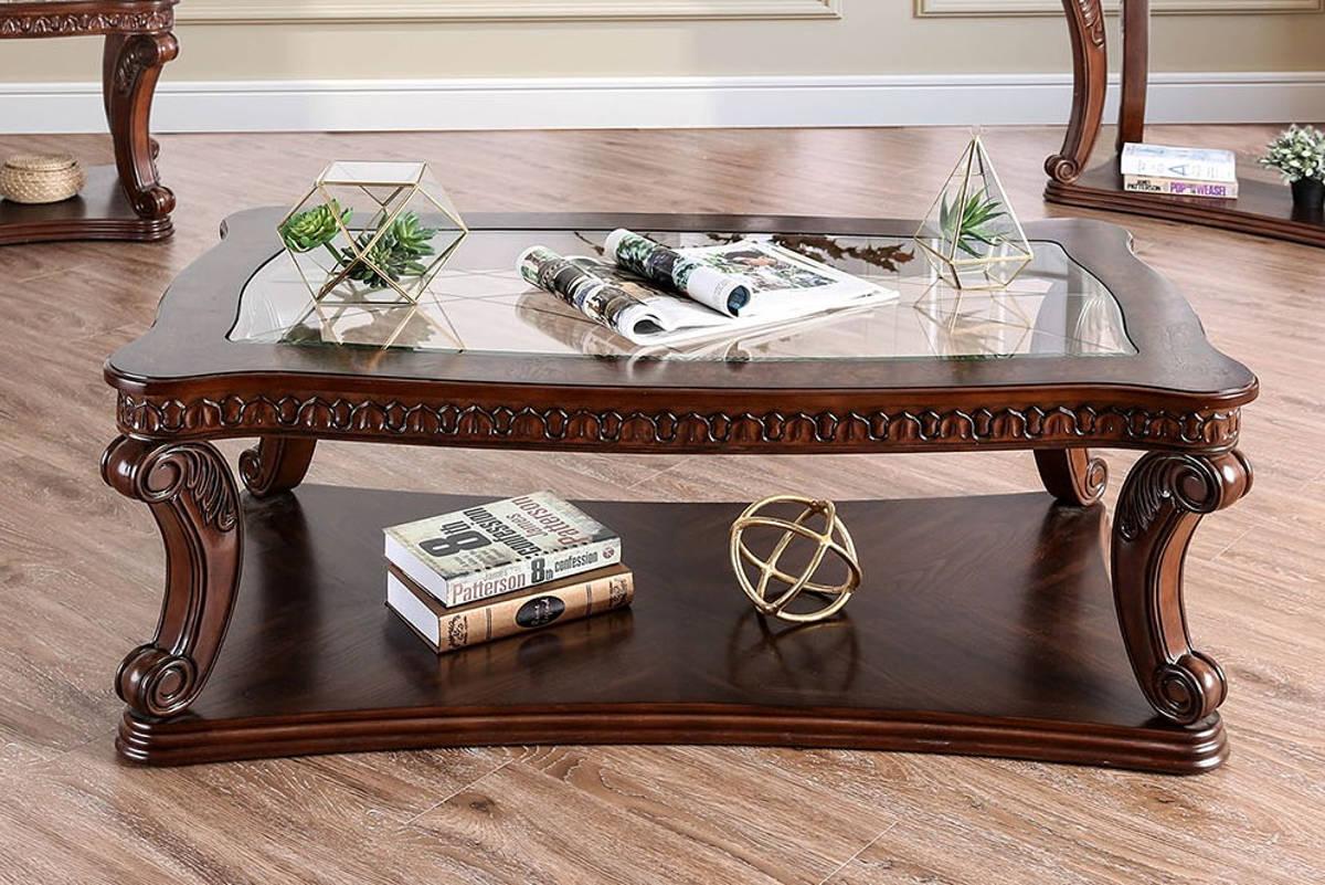 Furniture Of America Walworth Dark Oak Coffee Table