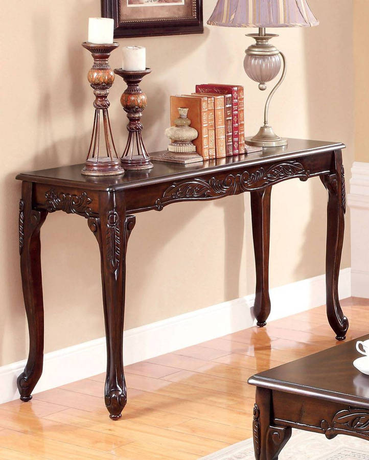 Furniture Of America Cheshire Dark Cherry Sofa Table