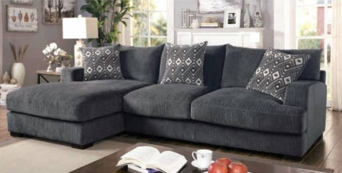 Furniture of America Kaylee Gray L Shaped Sectional