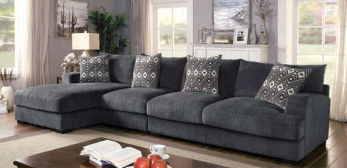 Super Furniture Of America Kaylee Gray Large L Shaped Sectional Gamerscity Chair Design For Home Gamerscityorg