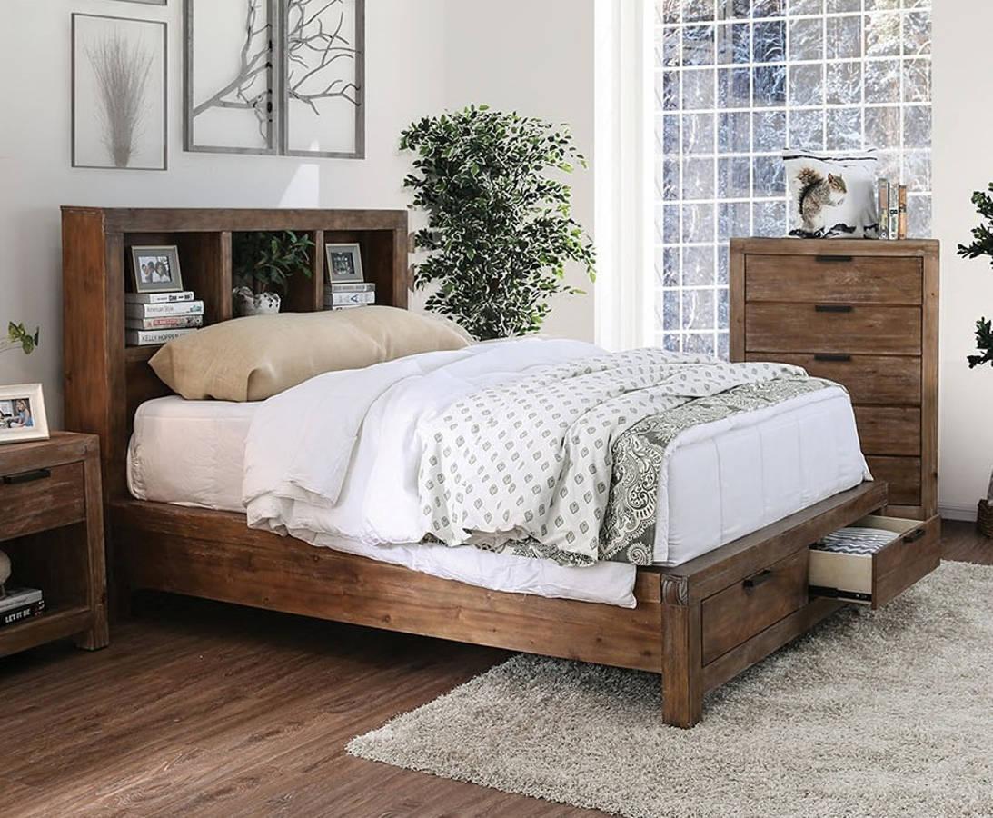 Excellent Furniture Of America Mcallen Light Oak King Bed Andrewgaddart Wooden Chair Designs For Living Room Andrewgaddartcom