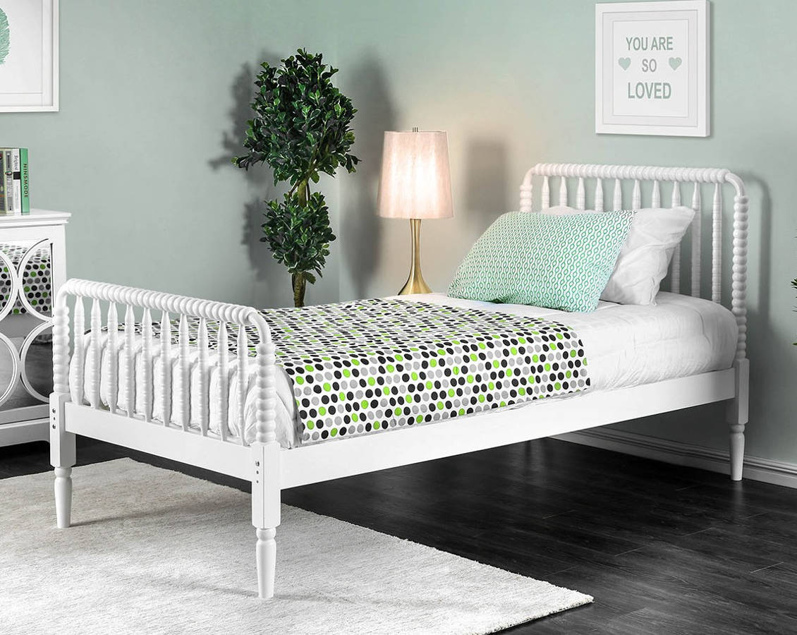 Furniture Of America Jenny White Queen Bed