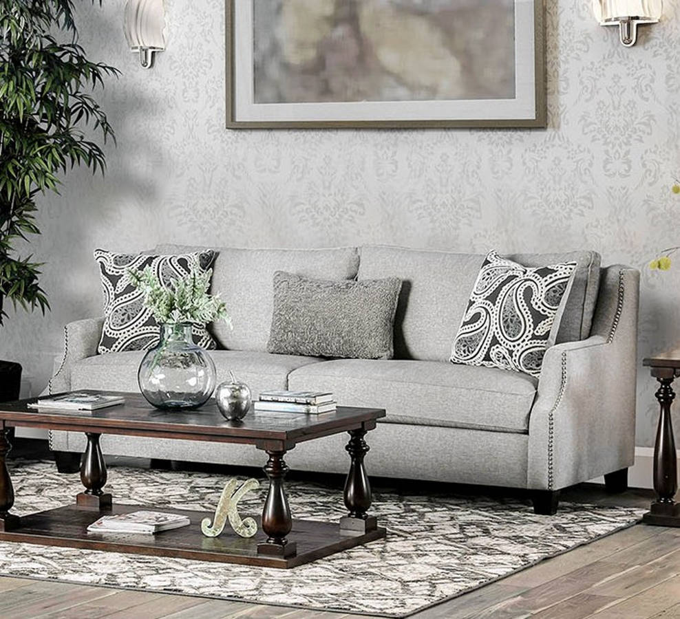 Fabulous Furniture Of America Madalyn Light Gray Sofa Lamtechconsult Wood Chair Design Ideas Lamtechconsultcom