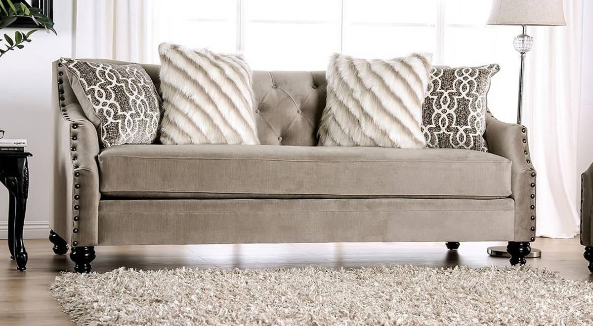 America Ezrin Light Brown Sofa