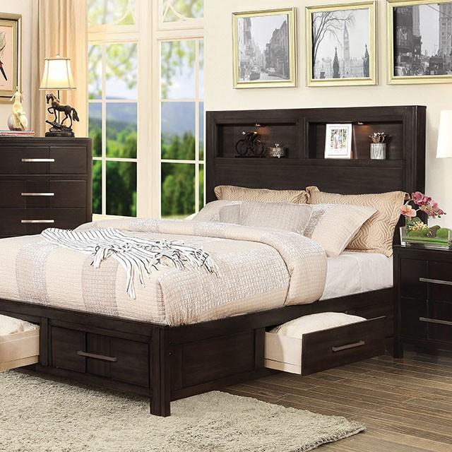 Furniture Of America Karla Espresso Queen Bed The Classy Home