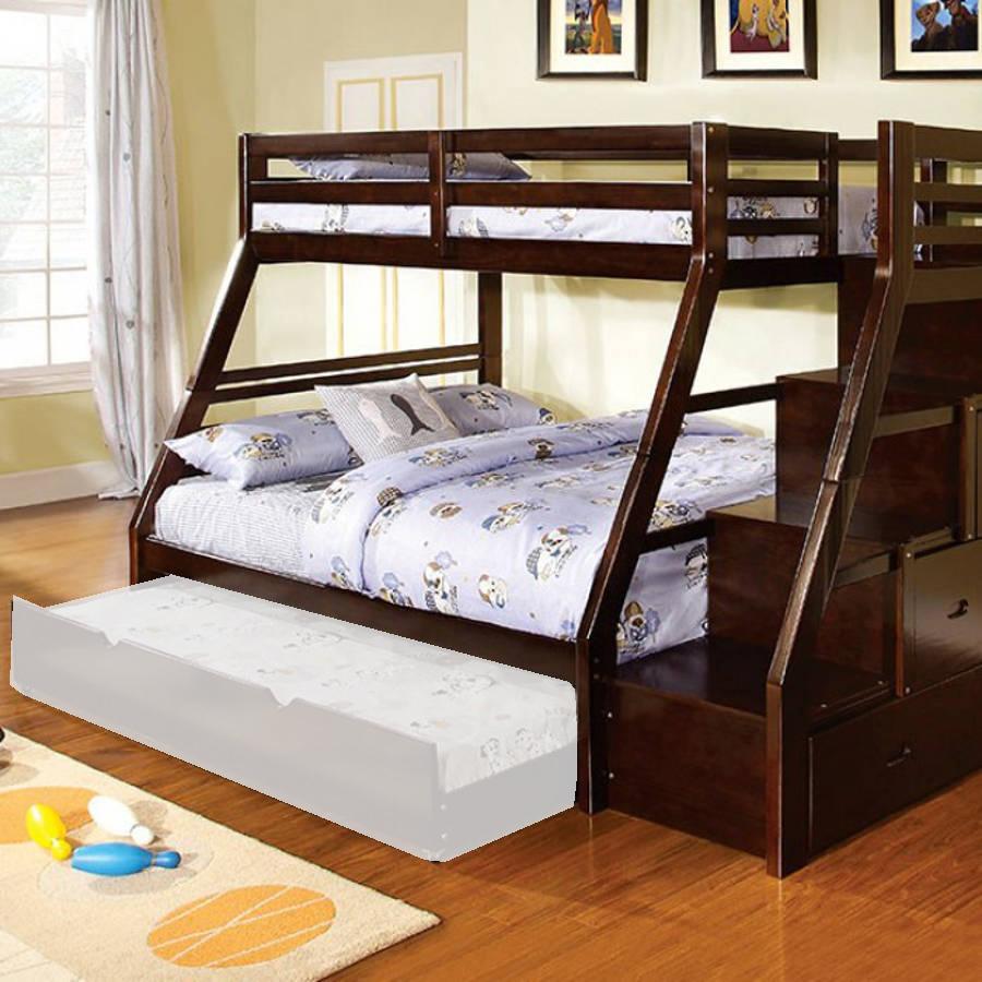 Furniture Of America Ellington Dark Walnut Twin Over Full Bunk Bed The Classy Home