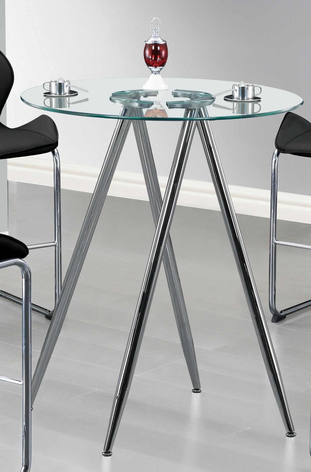 Global Furniture D1503 Chrome Bar Table