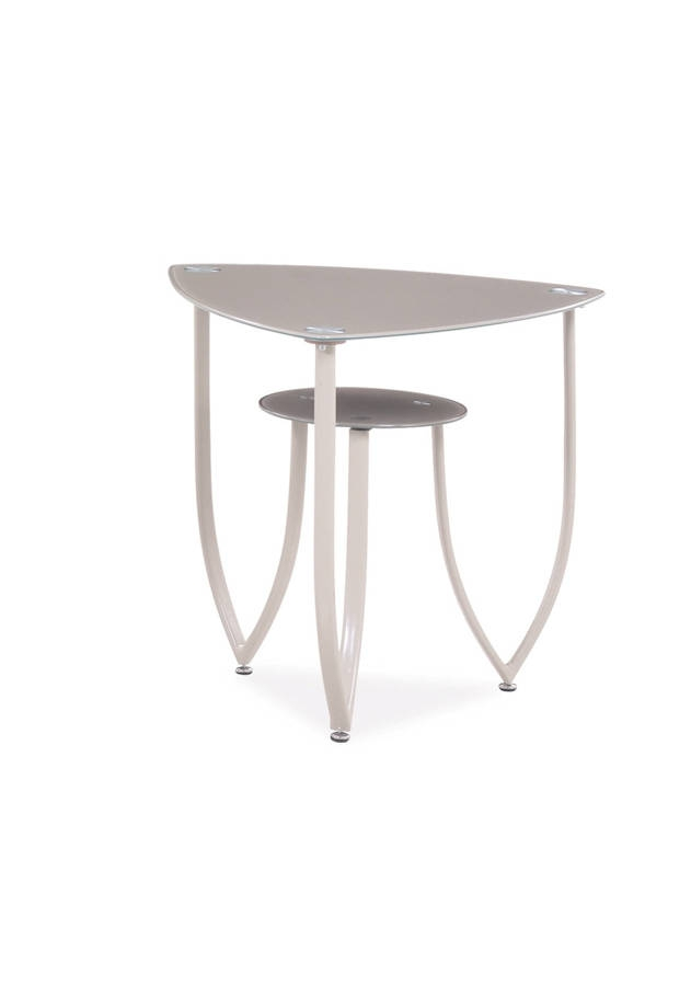 T601 Series Beige Triangle End Table