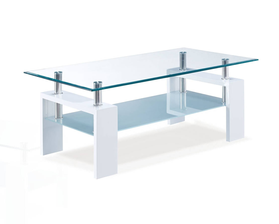 Global Furniture T648 Glossy White Coffee Table