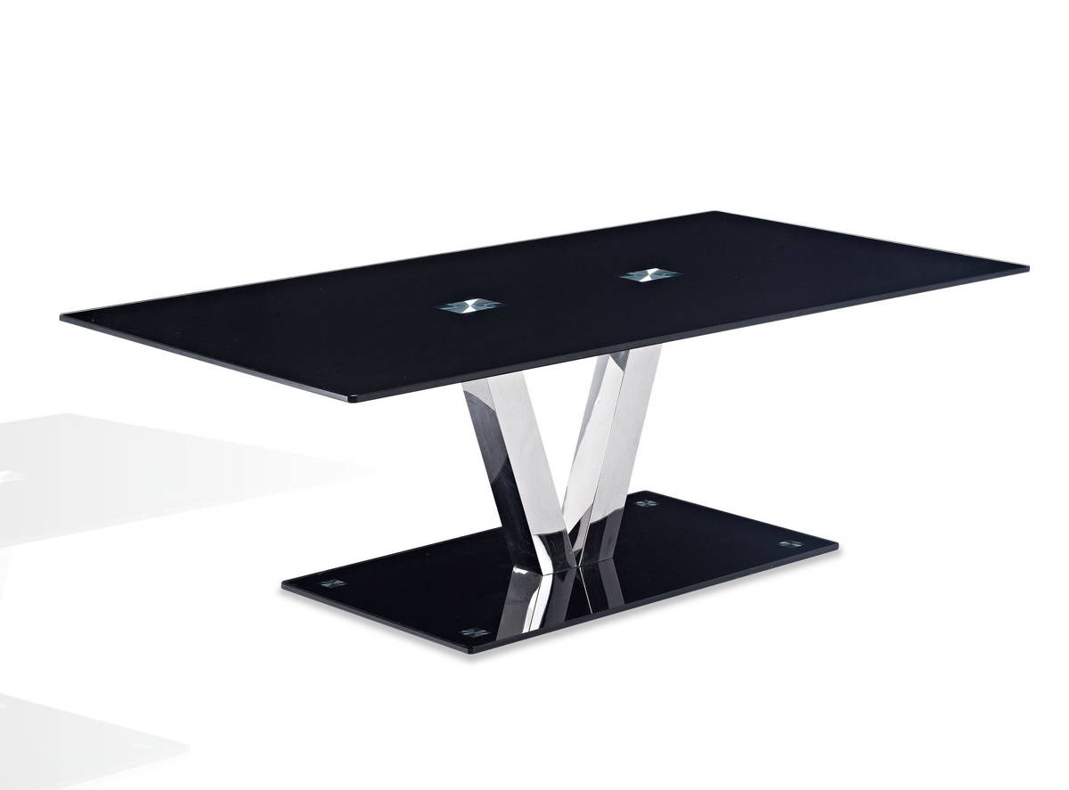 Global Furniture T655 Black Coffee Table The Cly Home