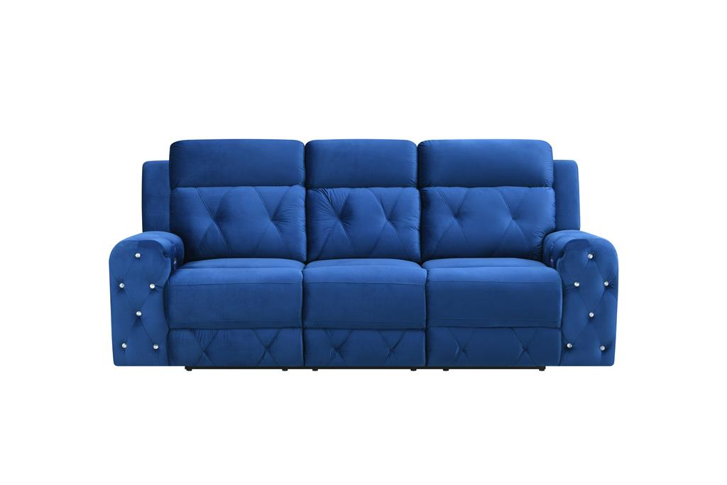Remarkable Global Furniture U8311 Blue Velvet Power Reclining Sofa Gmtry Best Dining Table And Chair Ideas Images Gmtryco