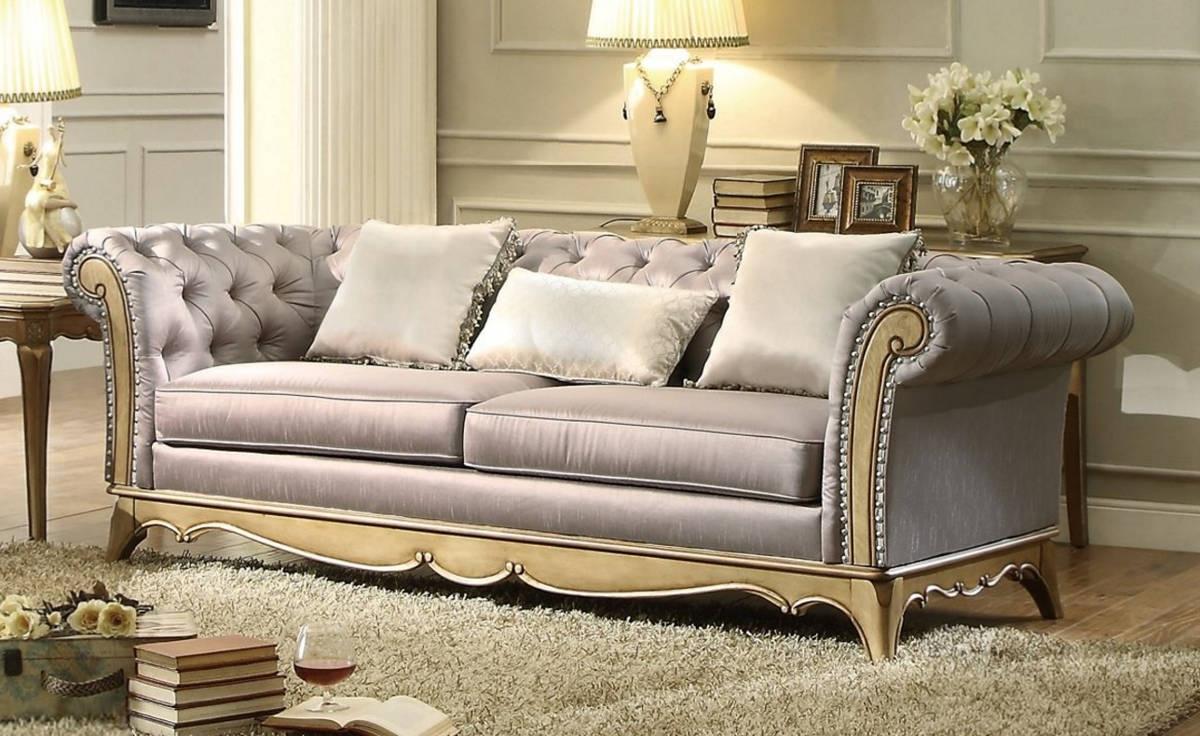 Home Elegance Chambord Gold Sofa
