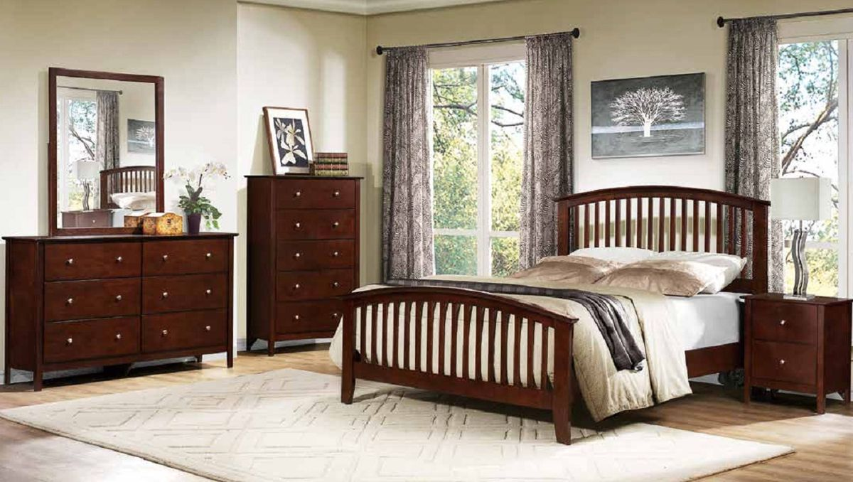 Nancy Merlot Wood Glass Master Bedroom Set The Classy Home The Classy Home Best Deal Furniture