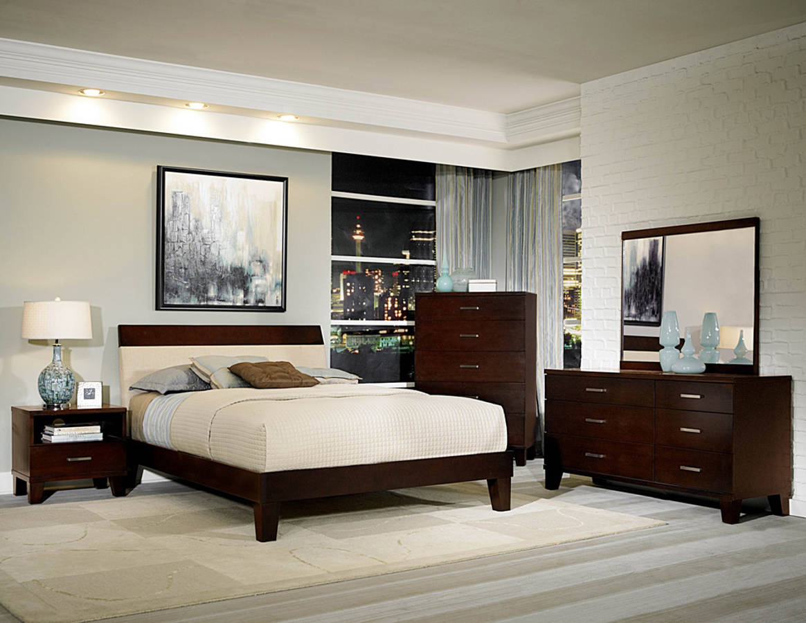 Claran Dark Cherry Wood King Master Bedroom Set The Classy Home The Classy Home Best Deal