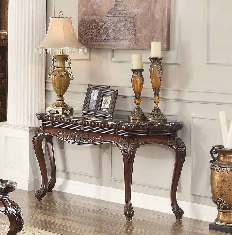 Marble Top Coffee Table Freedom: Home Elegance Mariacarla Sofa Table With Marble Top