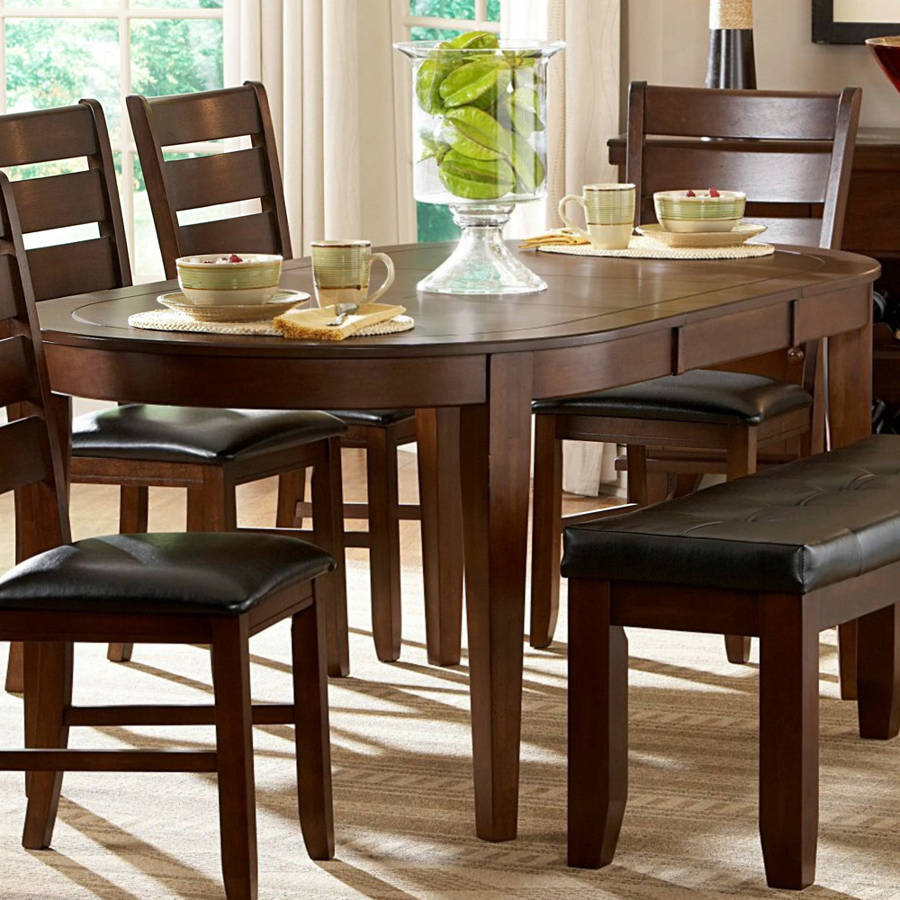 Home Elegance Ameillia Oak Brown Oval Dining Table The Classy Home - 48 inch oval dining table