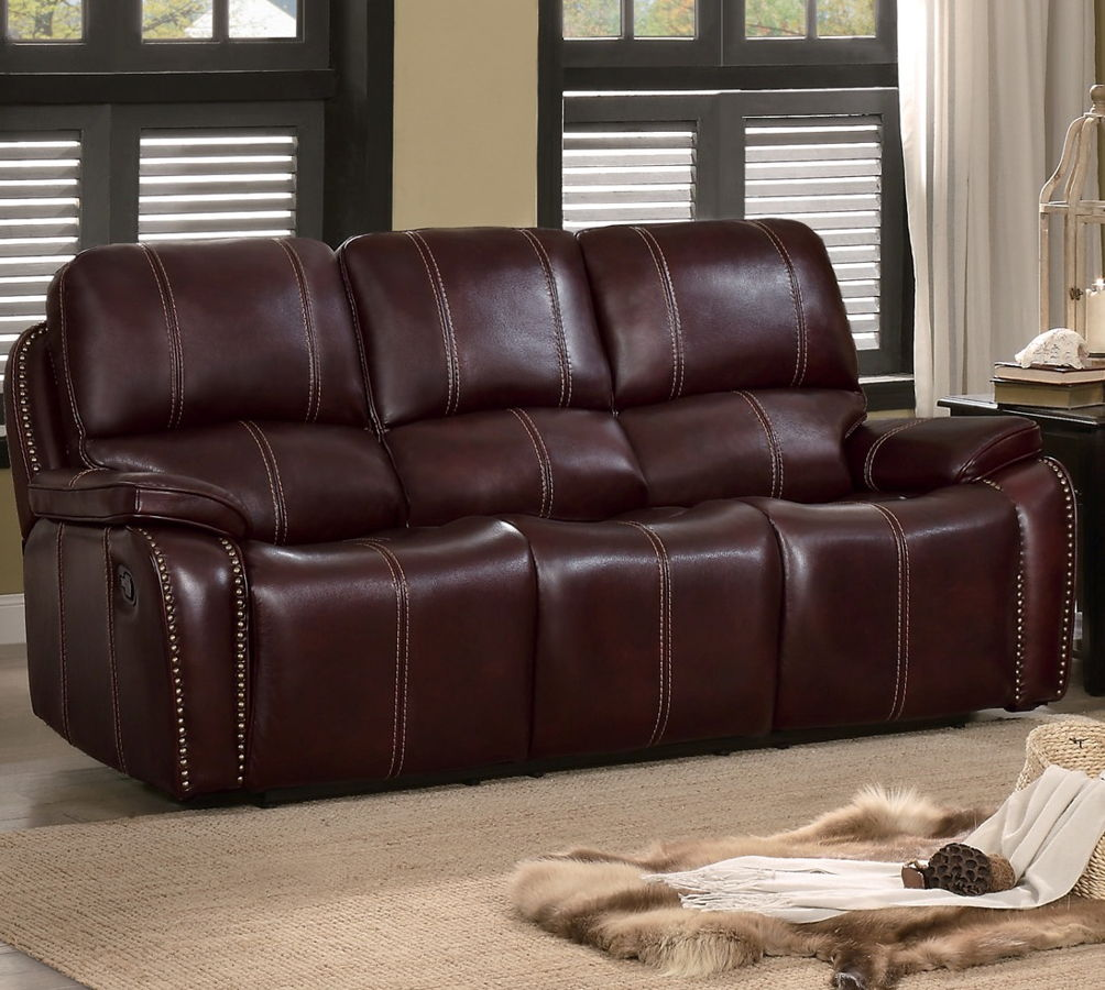 Fine Home Elegance Haughton Brown Double Recliner Sofa The Gmtry Best Dining Table And Chair Ideas Images Gmtryco