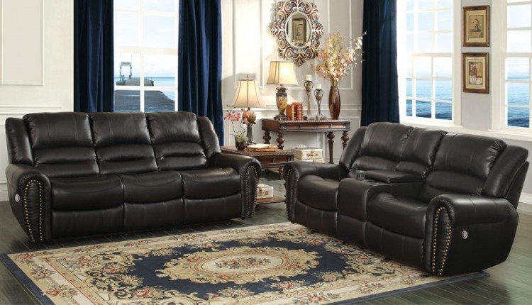 Center hill traditional bonded leather living room set for Best living room set deals