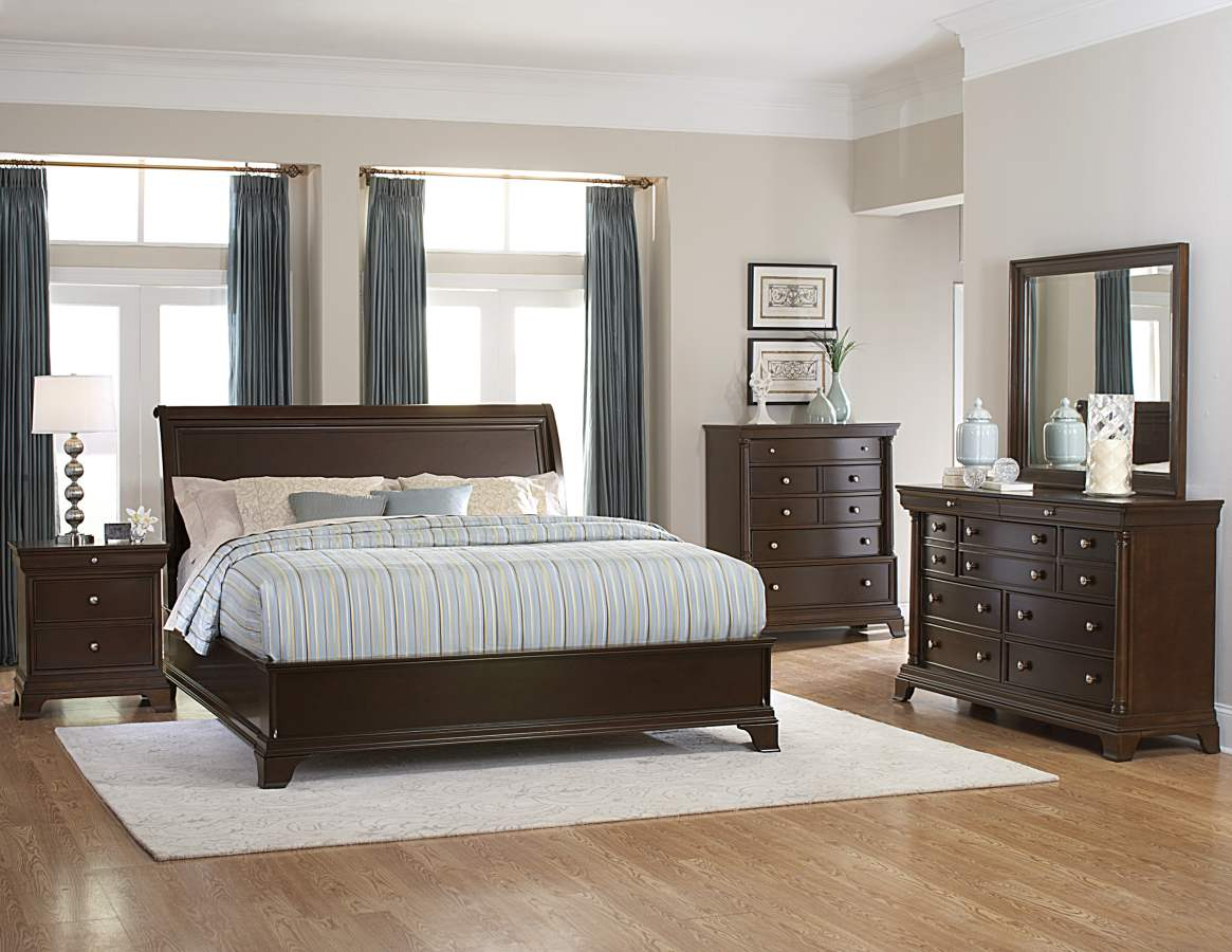 Home Elegance Inglewood 2pc Bedroom Set With Queen Low Profile Bed The Classy Home