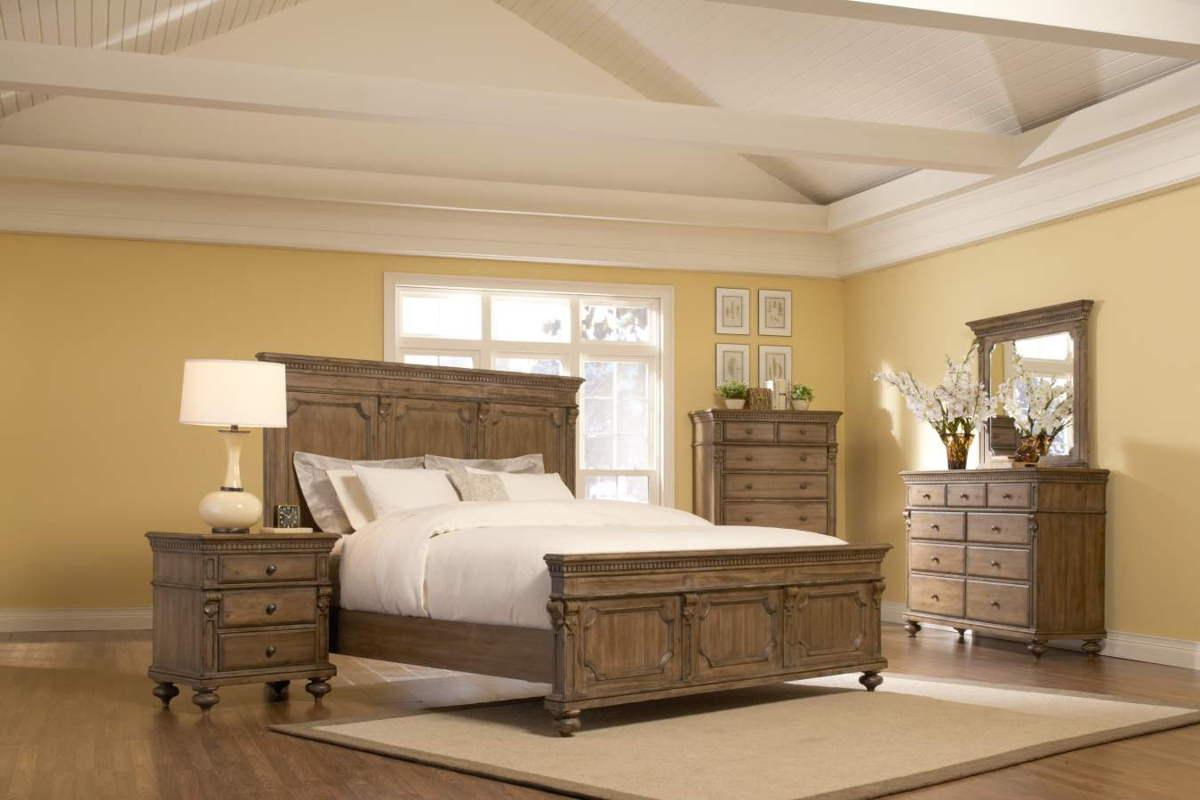 Eastover Neutral Gray Driftwood Wood 5Pc Bedroom Set Eastern King ...