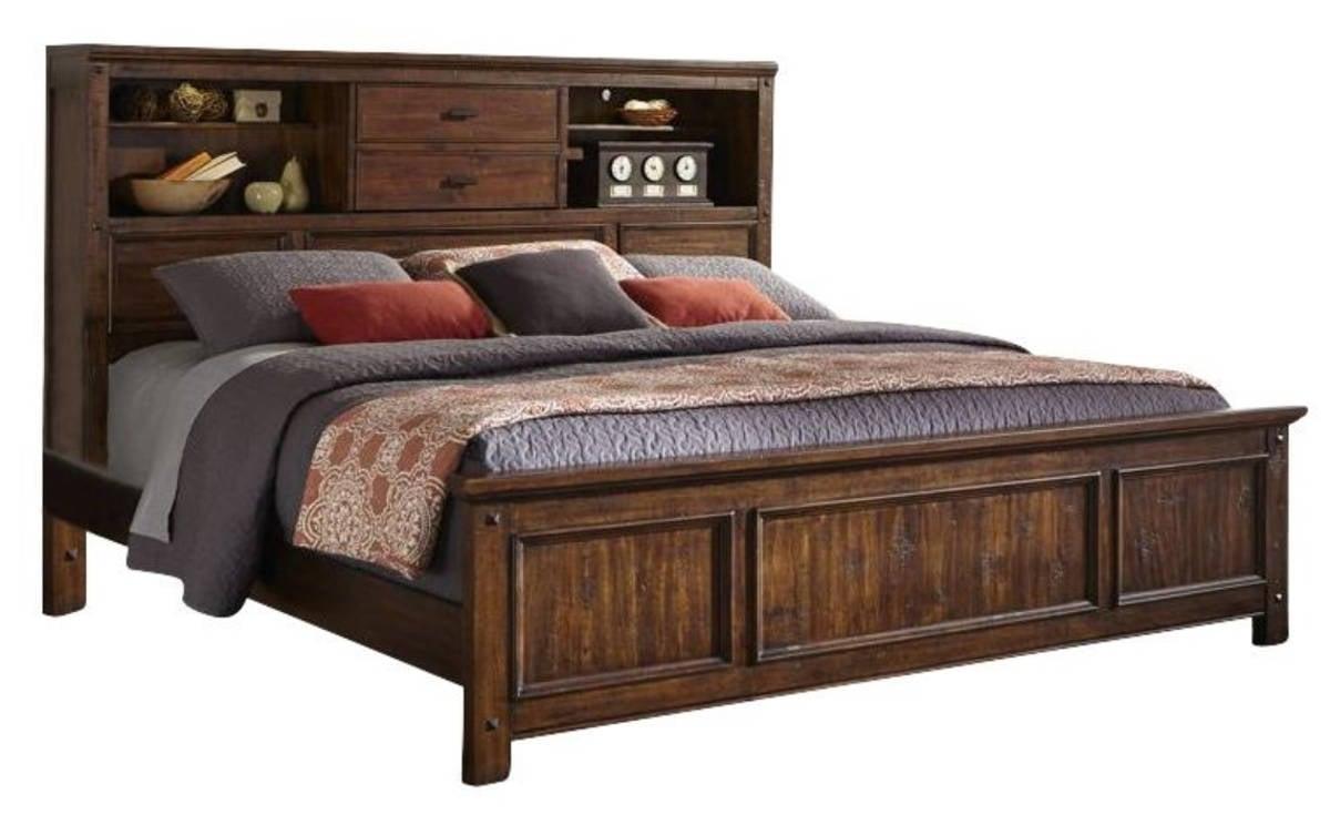 Intercon Wolf Creek Acacia King Bookcase Bed
