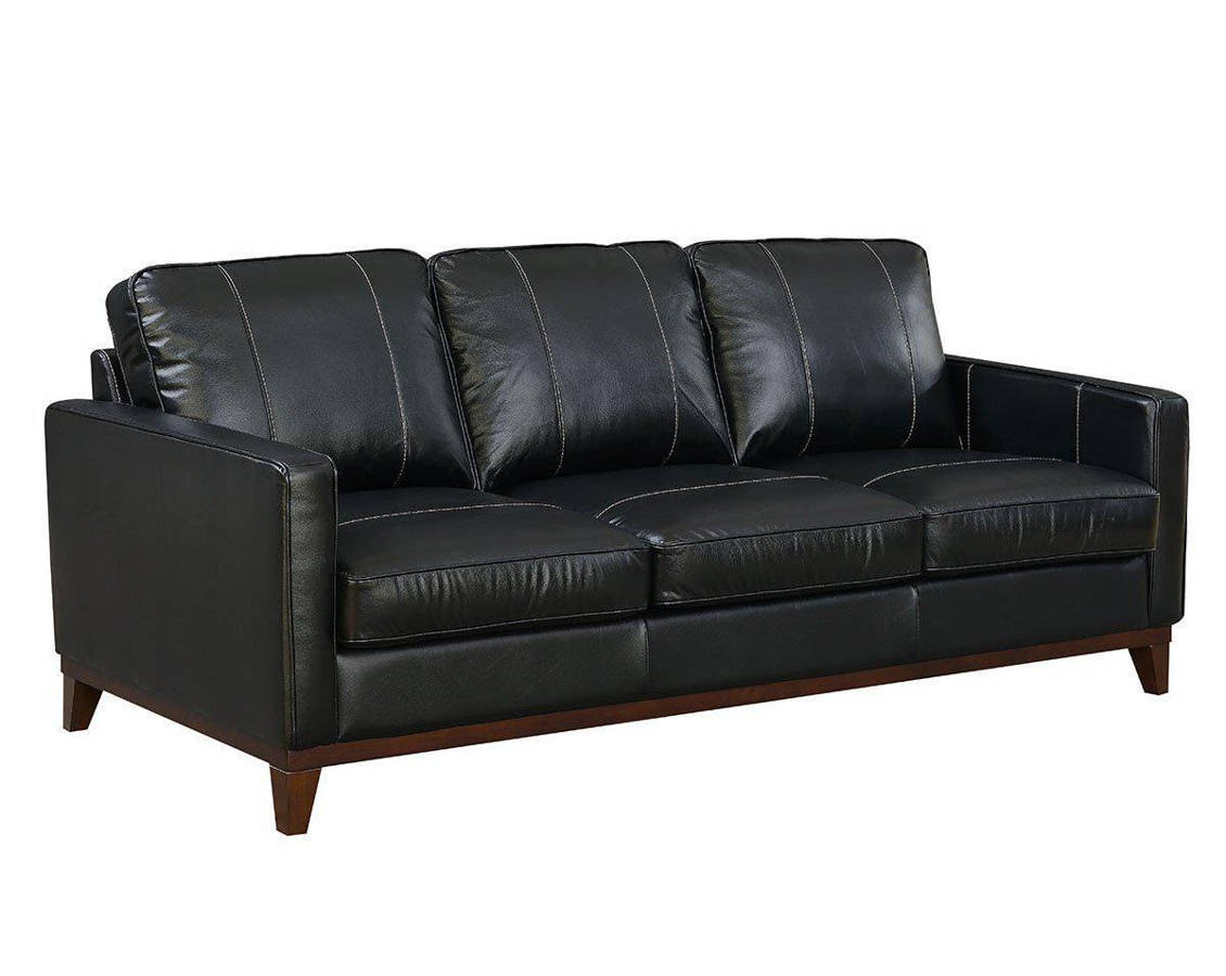 Awe Inspiring Jennifer Furniture Clancy Black Leather Sofa Gmtry Best Dining Table And Chair Ideas Images Gmtryco