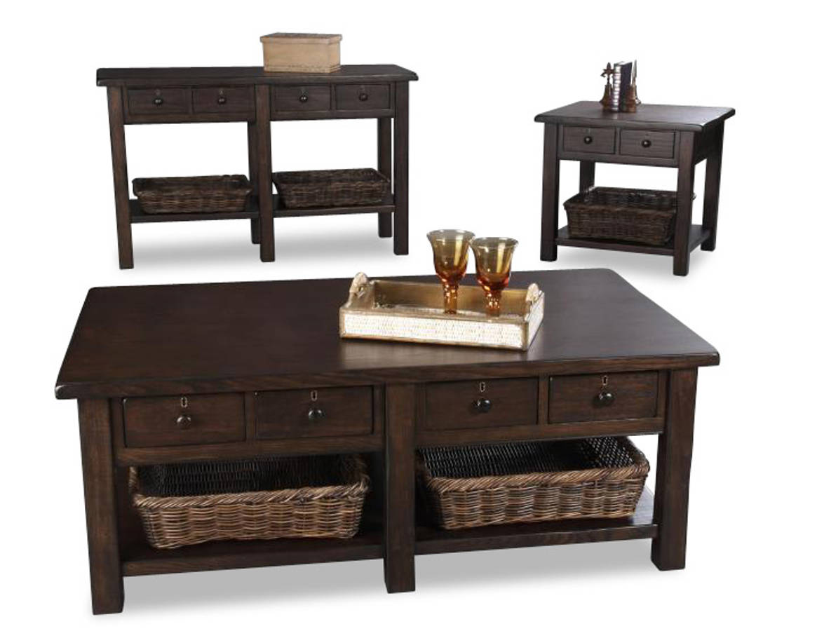 Providence Casual Wood Coffee Table Set The Classy Home