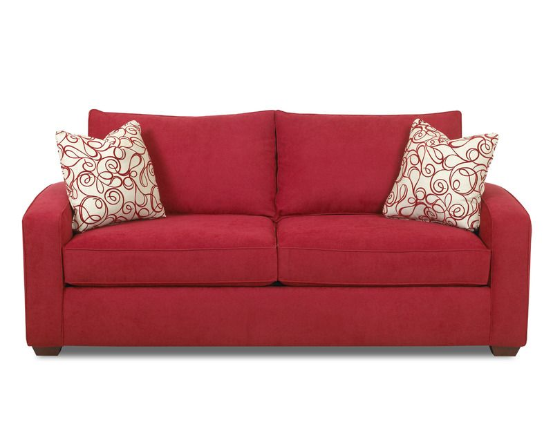 Booth Contemporary Red Sofa ( L 37 X W 81 X W 35 ) | The Classy Home