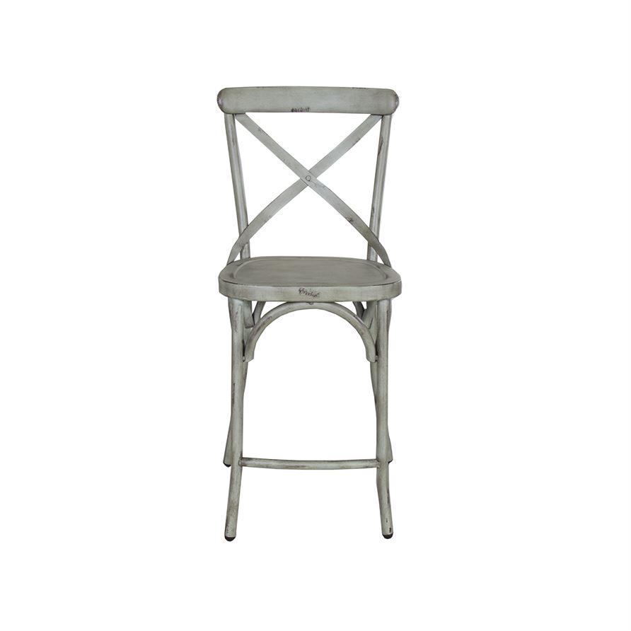 Awesome 2 Liberty Vintage Green X Back Counter Chairs Creativecarmelina Interior Chair Design Creativecarmelinacom