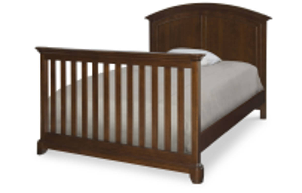 impressions clear cherry wood full size bed w convertible crib the classy home. Black Bedroom Furniture Sets. Home Design Ideas