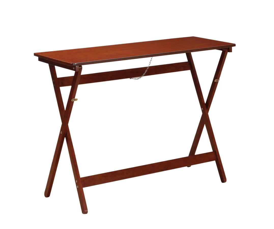 Walnut Solid Wood Mdf Folding Buffet Tray Table The