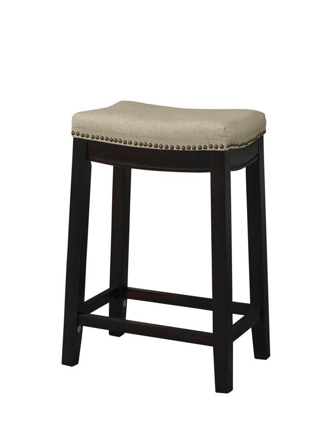 Linon Hampton Beige Fabric Top Counter Stool The Classy Home
