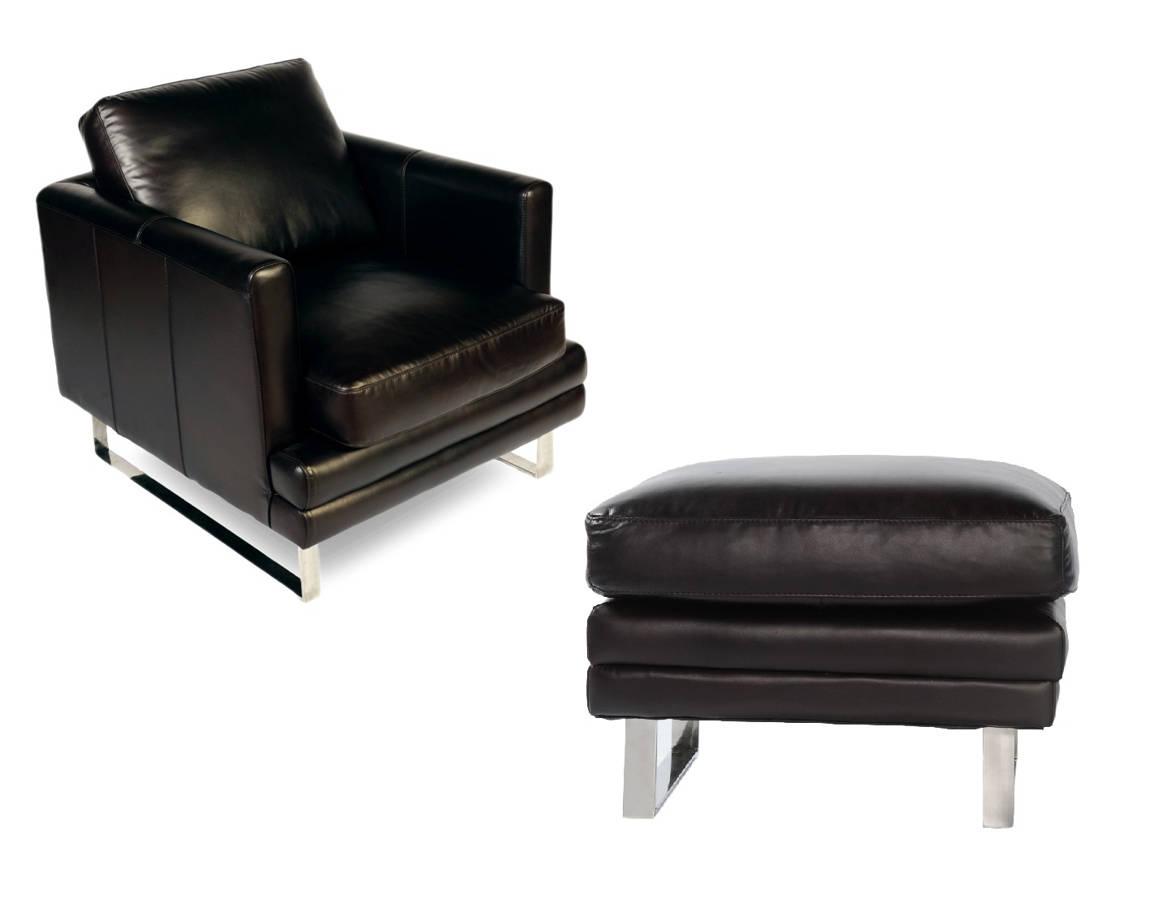 Enjoyable Lazzaro Melbourne Dark Chocolate 2Pc Chair And Ottoman Set Evergreenethics Interior Chair Design Evergreenethicsorg