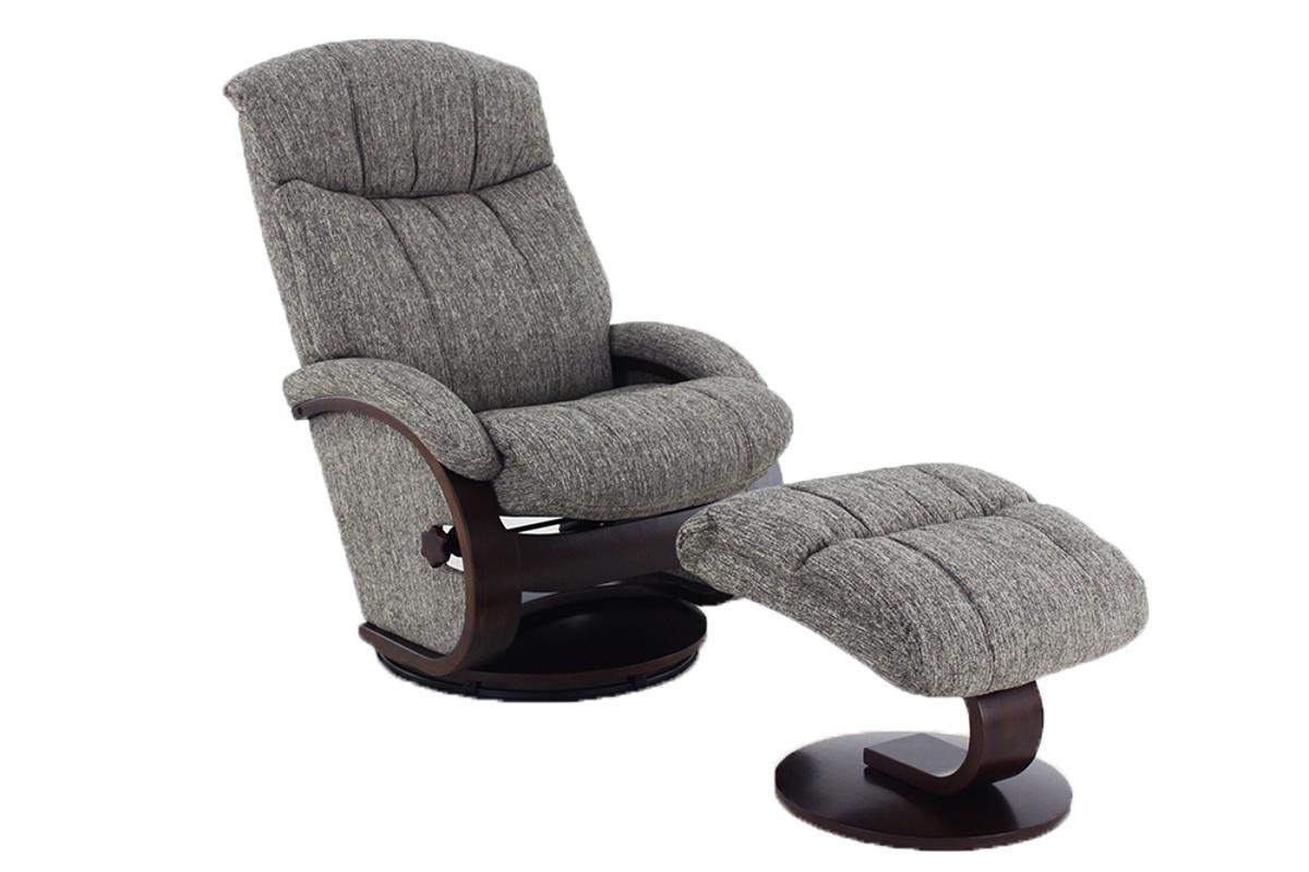 Fantastic Mac Motion Relax R Alma Teatro Grey Fabric Recliner And Ottoman Set Machost Co Dining Chair Design Ideas Machostcouk