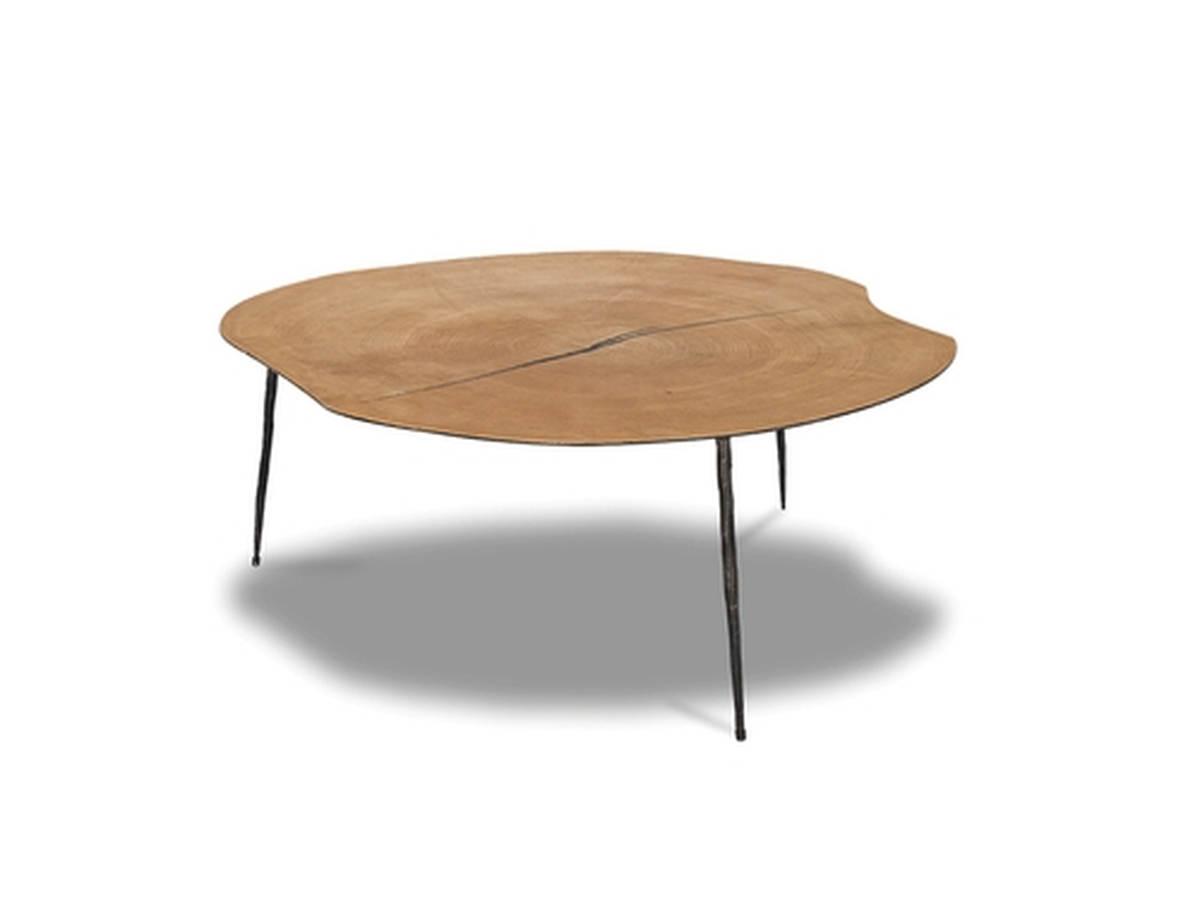 Mobital Oakley Black Oak Wood Low Coffee Table