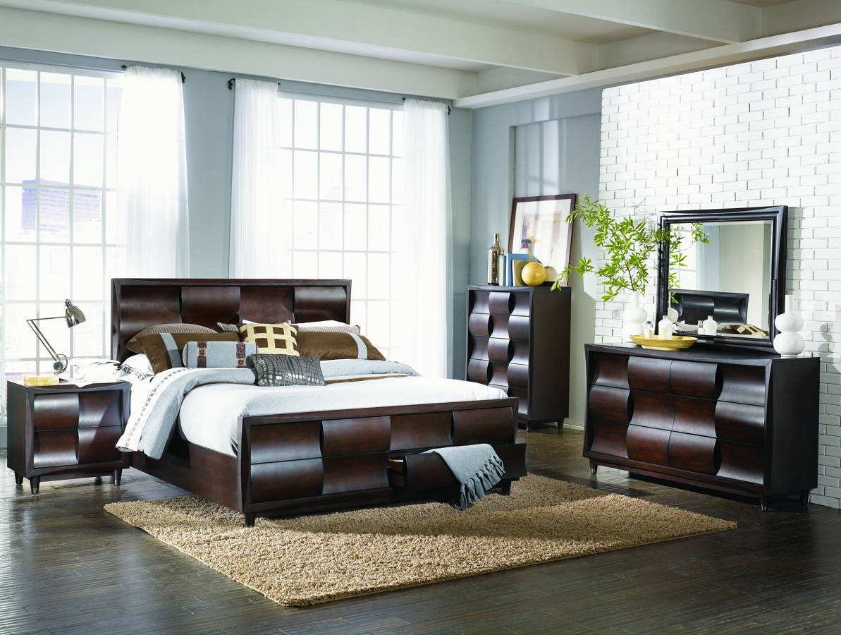 Magnussen home fuqua 2pc bedroom set with cal king storage - California king storage bedroom sets ...