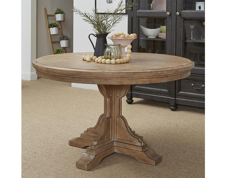 Magnussen Home Graham Hills Wood Round Dining Table The